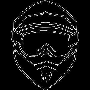 Motorcross Helm Skizze front