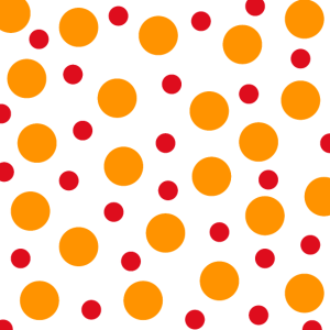 punkte dotts muster template orange red
