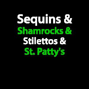 Pailletten Shamrocks Stilettos St. Patty Geschenk