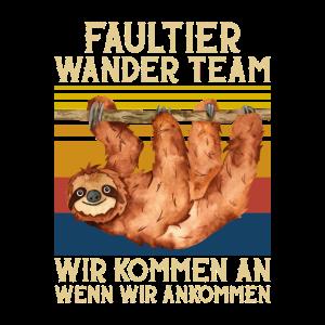 Faultier Wander Team Wir kommen an Retro Design
