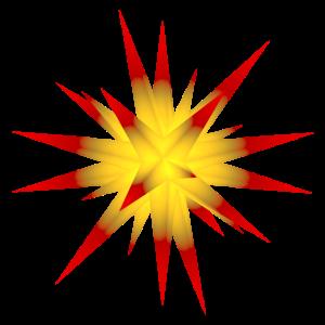 weihnachtsstern gelb-rot 2