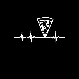Pizza Liebe Herz Herzschlag Love. Foodie Food