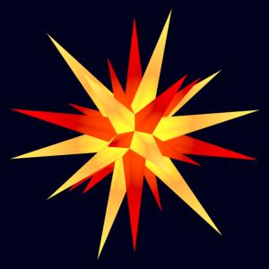 Weihnachtsstern gelb-rot - Poster