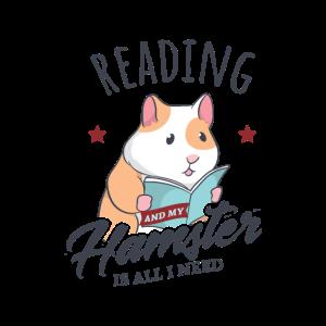 Lesen und Hamster Ironisch Niedliche Leseratte