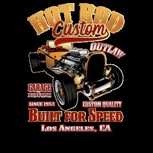 Custom Hot Rod Built for Speed