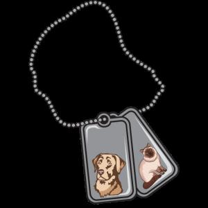 Dog Tag Labrador Retriever And Cat - Puppy Lover P