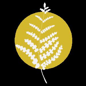 PLANT LOVER | Pflanze im gelben Kreis I | weiß