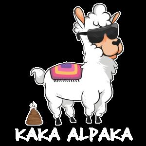 Kaka Alpaka - lustiges Alpaka mit Kackhaufen