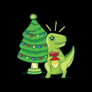 Tyrannosaurus Rex Weihnachten Bescherung