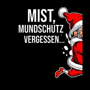 MiST, Mundschutz vergessen Weihnachtsmann rennt.