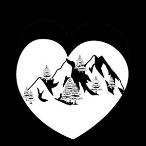 Wald Gebirge Natur Gipfel Herz Bergsteiger