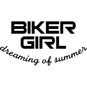 Biker Girl dreaming of summer