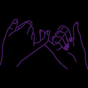 freundschaft solidarität friends hand illu girls l
