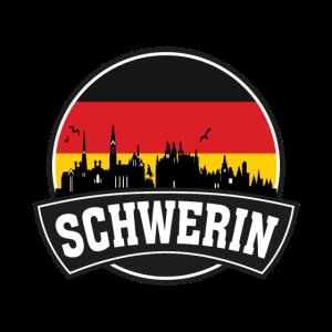Schwerin Deutschland Skyline Travel Souvenir Deutsch Fl