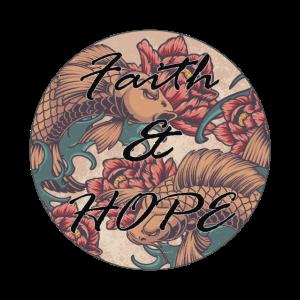 "Retro Vintage Design ""Faith and Hope"""