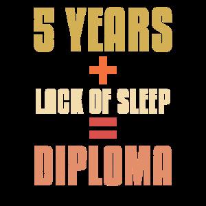 5 Jahre Schlafmangel-Diplom