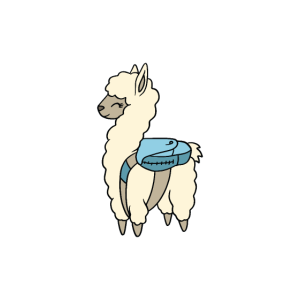 Bye Bye Kindergarten Schulkind Lama Alpaka