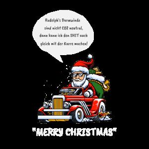 Weihnachten Rentier CO2 Verbrennungsmotor Geschenk