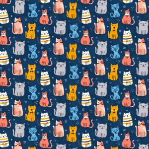 Funny Katzen Muster Mundschutz