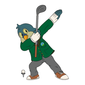 Dabbing Birdie Dab Dance Golf Golfer Vogel