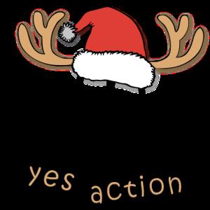 Rentier Weihnachten Comic