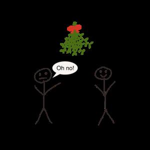 Weihnachtsmotiv - Mistelzweig