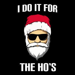 Weihnachtsmann Weihnachten lustig I do it for the