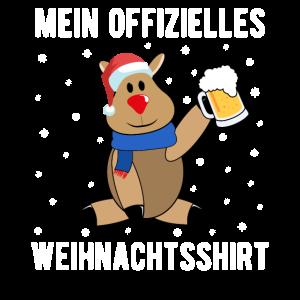 Offizielles Weihnachtsshirt Rentier Bier Geschenk