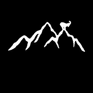 Berg mit steinbock