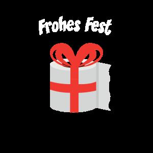 Frohes Fest Klopapaier Weihnachten Geschenkidee