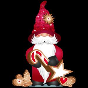 zauberhafter süßer Wichtel mit Weihnachtsplätzchen