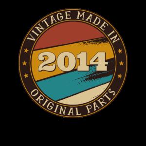 7. Geburtstag Vintage 7 Jahre alt Made In 2014 Geschenk