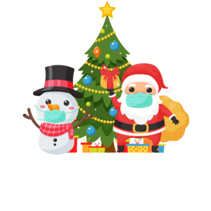 Weihnachten 2020 Geschenk Weihnachtsmann mit Maske
