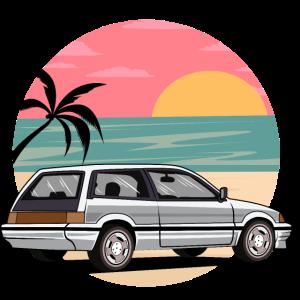 Retro Vintage Strand Auto