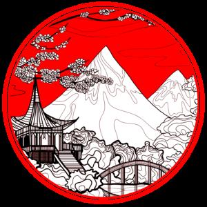 Japanische Strichzeichnungen