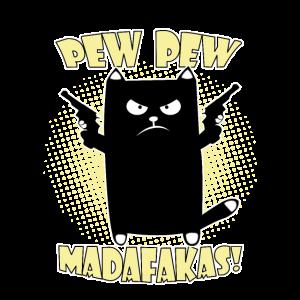 pew pew madafakas,funny cat