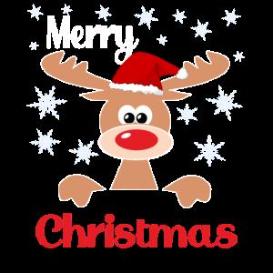 Merry Christmas Reindeer Geschenkidee Rentier