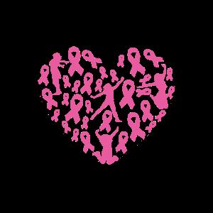 Rosa Bandherz für Brustkrebs-Überlebenden