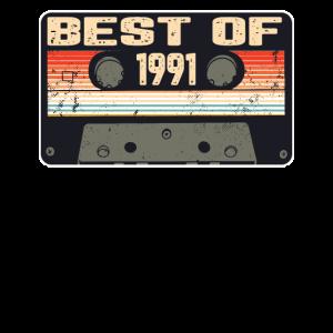 Vintage 1991 Geburtstag Retro Kassette Geschenk