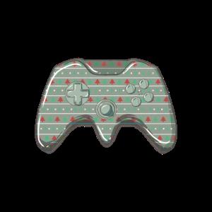 Spielekonsole Controller Weihnachtsmuster Spaß