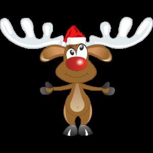 Rentier Rudolph mit der roten Nase