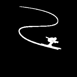 Ski Abfahrt Skifahrer