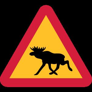 Elch Warnschild
