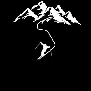 Apres SKI fahren Abfahrt Skipiste Hang Skiurlaub