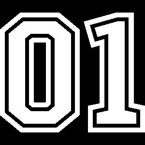 01 eins nummer zahl