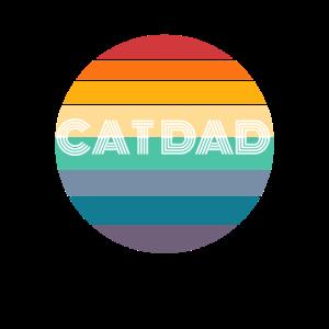 Rainbow CAT DAD Shirt, Retro CAT DAD, CAT DAD