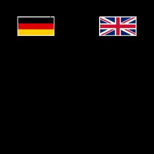 German Vs English Deutsch Gegen Englisch Geschenk