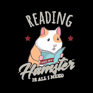 Lesen und Hamster Ironisch Niedlich Buch