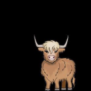 Schottisches Hochlandrind Cooler Spruch Kuh