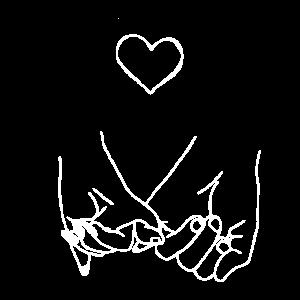 Zeichnung Freundschaft Hände Finger Herz
